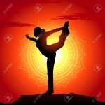 15529909-Vector-illustration-of-yoga-poses-at-sunset-background-Stock-Photo